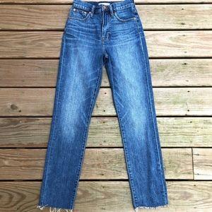 Madewell Tall Perfect Vintage Jean Raw Hem